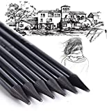 #5: Mont Marte Woodless Graphite Pencil, Charcoal Sticks Soft Pencil Set, No Wood Pencils HB 2B 4B 6B 8B EE for Artist Beginner Graphite Drawing Writing Doodling Gift, 6 Piece Set