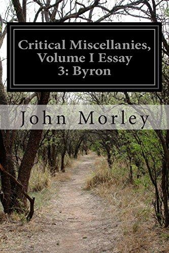 Critical Miscellanies, Volume I Essay 3: Byron: 1