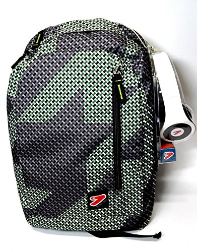Zaino seven the double reversibile twig verde nero + cuffie novita' 2016