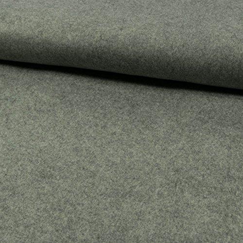 Deko- Bastelfilz 1mm hellgrau meliert -Preis gilt für 0,5 Meter-