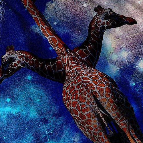 Giraffe Abstrakt Mode Magie Nacht Damen Schwarz S-2XL Muskelshirt | Wellcoda Schwarz
