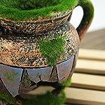 Dimart Simulation Resin Vase with Moss Aquarium Decorations Fish Tank Landscape Ornament 11