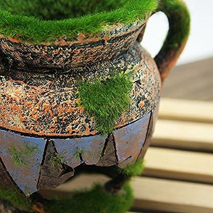Dimart Simulation Resin Vase with Moss Aquarium Decorations Fish Tank Landscape Ornament 5