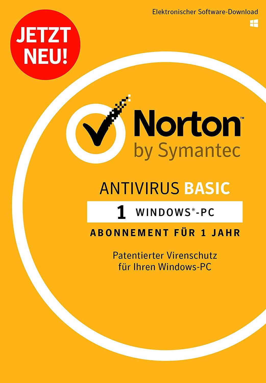 Norton Antivirus Basic | 1 Gerät | 1 Jahr | PC | Download [Online Code]