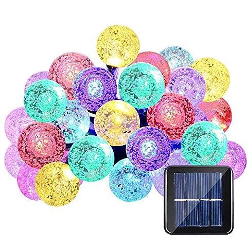 Qedertek Guirlandes Lumineuse Solaire Avec 30 LED et 8 Modes d