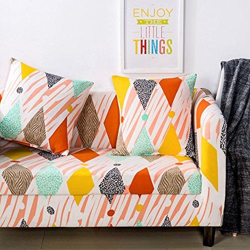chenyu - Copridivano in tessuto elastico per divano a 1, 2, 3 e 4 posti, Colorato, 2 seat