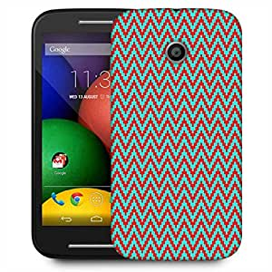 Snoogg Green And Red Strips Designer Protective Phone Back Case Cover For Motorola E / Moto E