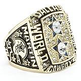 ZNKVJ Titan Stahl 1977 Jahr Herren Dallas Cowboys Meisterschaft Ring,Größe 67 (21.3)