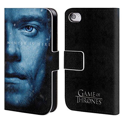 Offizielle HBO Game Of Thrones Daenerys Targaryen Winter Is Here Brieftasche Handyhülle aus Leder für Apple iPhone 7 Plus Theon Greyjoy