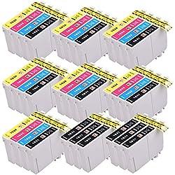 PerfectPrint Compatible Tinta Cartucho Reemplazo Para Epson WF-2010W WF-2510WF WF-2520NF WF-2530WF WF-2540WF WF-2630WF WF-2650DWF WF-2660DWF WF-2750DWF WF-2760dwf 16XL (B/C/M/Y, 34-Pack)