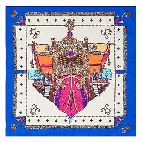QYYDWJ Twill Schal Frauen Geometrische Streifen Dot Silk Satin Schal Schals Fashion Square Neck Schals Wraps 60 * 60 cm 60 X 60 cm Helllila -