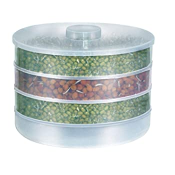Slings Plastic Sprout Maker, 4 Containers, White