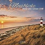 Meerblicke - Nord- und Ostsee 2018: Broschürenkalender mit Ferienterminen. Format: 30 x 30 cm