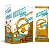 ONTHERUN Hazelnut Magic Energy Bars with Power of Ashwagandha (Pack of 6 X 30g Each)