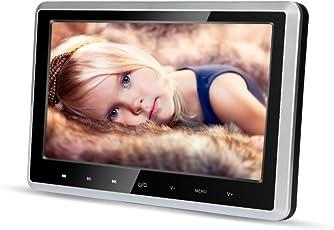 MiCarBa Auto-DVD-Player für Kinder 10,1 Zoll Breitbild Ultra-Dünne Kopfstütze DVD-Player-Monitor mit HDMI USB SD FM Fernbedienung für Lange Reise im Auto Entertainment (CLZ102D)