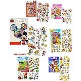 """XL Set - Aufkleber / Sticker - """" Disney Motive """" - selbstklebend - Stickerblock - für Mädchen & Jungen - Princess / Cars - Planes - Bambi - Pooh - Playhouse / Micky Maus - Stickerset Kinder - z.B. für Stickeralbum / Daisy - Goofy - Donald Duck - Pluto - Kindersticker - für Stickerbuch"""
