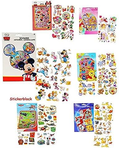 3 Stickerblöcke - mit jeweils 100 Stück _ Aufkleber / Sticker -