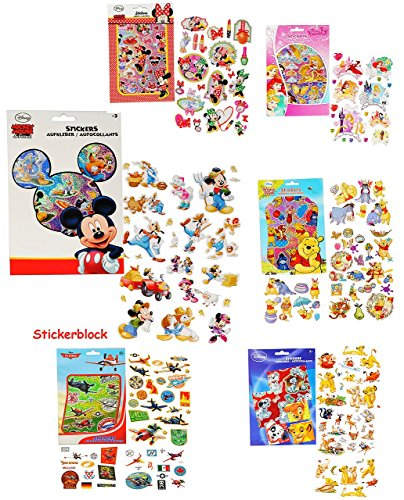 1 Stickerblock - mit 100 Stück _ Aufkleber / Sticker -