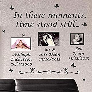 amazing sticker Wandaufkleber mit Zitat in These Moments Time Stood Still, Vinyl, dunkelgrün, X Large