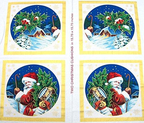 Minerva Crafts Santa & Winter Szene Kissen Weihnachten Stoff Panel-Pro Panel -