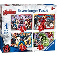 Ravensburger Marvel Avengers 4 In A Box (12, 16, 20, 24 piece) Jigsaw Puzzles Englisch Version