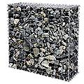 Songmics Gabionen Käfige aus Verzinktem Stahl 4 Verschiedene Größen Wählbar GGB (100 × 95 × 30 cm) von Songmics bei Du und dein Garten