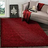 A2Z RUG SOFT SUPER THICK SHAGGY RUGS Red 160X120 CM - 5.2X3.9 FT