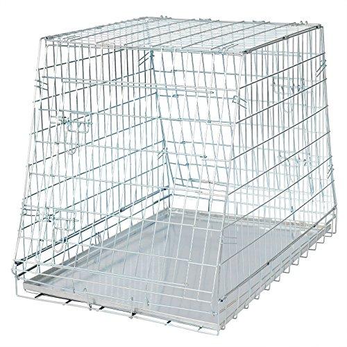 WOLTU® faltbar Hundekäfig Auto Käfig Transportkäfig Hundebox Hunde Transportbox 2 Türen 91*61*71 cm HT2081sb1