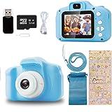 Ibello Cámara Digital para niños con Tarjeta Micro SD 32 GB Cámara de Fotos para niños 1080P Cámara Fotos Infantil Regalo Ide
