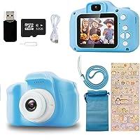 Appareil Photo pour Enfants Jouet Mini Caméra Rechargeable Antichoc 32G Carte Numérique Caméscope Vidéo HD 1080p pour…