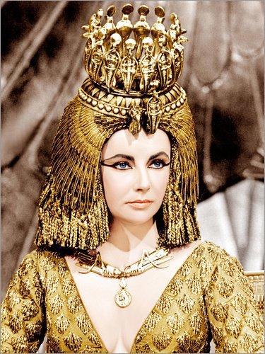 Posterlounge Alubild 60 x 80 cm: Elizabeth Taylor als Cleopatra von Everett Collection
