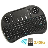 2.4Ghz Mini Wireless Keyboard With Touchpad Mouse Portable Handheld Android Keyboard for Google PC Android Box Smart TV PS3 Pad Black