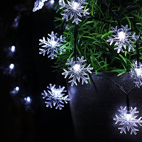 Snowflake Solar Fairy Lights, St...