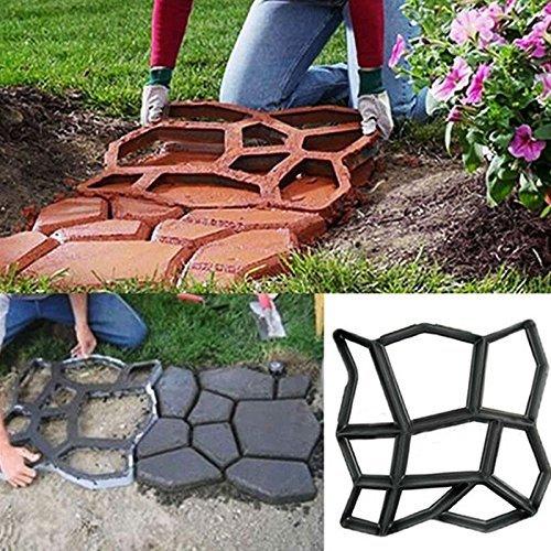 Gufan DIY molde de pavimento Jardín Patio Camino Losas de hormigón Walk...