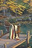 Toland Home Garden Adirondack at The Pond Deko-Fahne für Herbstgarten, 31,8 x 45,7 cm