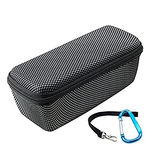 Poschell Doppeltem Reißverschluss Tasche in Schwarz für Bose Soundlink Mini 2 Bluetooth Lautsprecher und JBL Flip 3 Bluetooth Lautsprecher