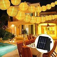 Etmury Solar String Lights Globe, 40 LED Fairy Lights Outdoor Garden Light 2 Modes IP65 Waterproof Solar Lante