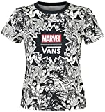 Vans Marvel Women Baby tee Camiseta Mujer Negro-Blanco XS