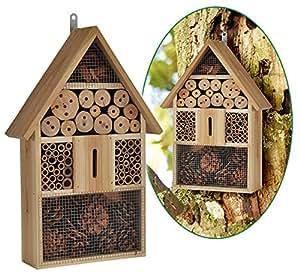 Bambelaa! XXL Insektenhotel Bienenhotel Insektenhaus mit