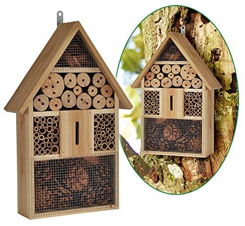 bambelaa-Htel--insectes-Htel-insectes-abeilles-avec-toit-pointu-Abri-en-bois-pour-les-gupes-abeilles-papillons-et-coccinelles-en-matriaux-naturels-Natur-Pur-48-x-31-x-10-cm-1-pice