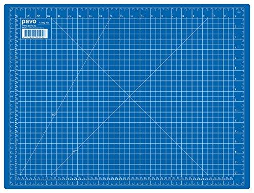 Pavo 8002924 A2 Schneidematte Schneideunterlage, 600 x 450 mm, blau