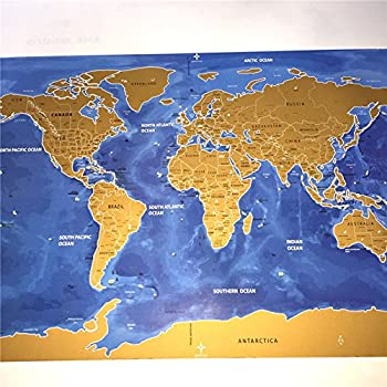 Deluxe home travel scratch map personalized world map poster deluxe home travel scratch map personalized world map poster vacation national geographic world map wall sticker gumiabroncs Gallery
