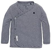 Noppies Baby - Jungen T-Shirt B Tee Ls Smal Yd, Gestreift, Gr. 56, Blau (Navy C166)