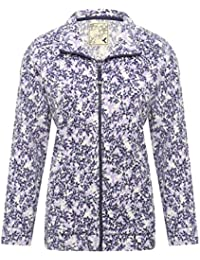 M&Co Ladies Floral Long Sleeve Zip Front Funnel Neck Side Pocket Cosy Fleece Jacket