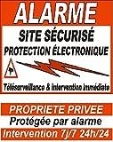 6 autocollants dissuasifs d'alarme pour porte, fenêtre et portail