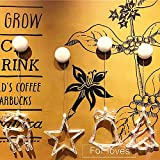 ELINKUME® Weihnachten Fensterdeko,Warmweiß Fensterschild Dekobeleuchtung Ideal für Innen, Wand, Schaufenster, Decken, Tür, Weihnachtsbaum (Rentier + Bell + Weihnachtsbaum + Stern)