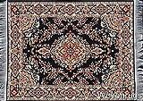 Inusitus Teppich Mauspad - Büro Zubehör - Orientalischer Mini Teppich Computer Zubehör (Schwarz)