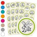 56 Gewürzetiketten/Gewürzaufkleber - individuelle Abbildungen der Gewürze - für Regale, Gläser oder Dosen - beschriftet, selbstklebend, 9 verschiedene Farben, Ø 4cm Kreis rund, Farbe: GRÜN