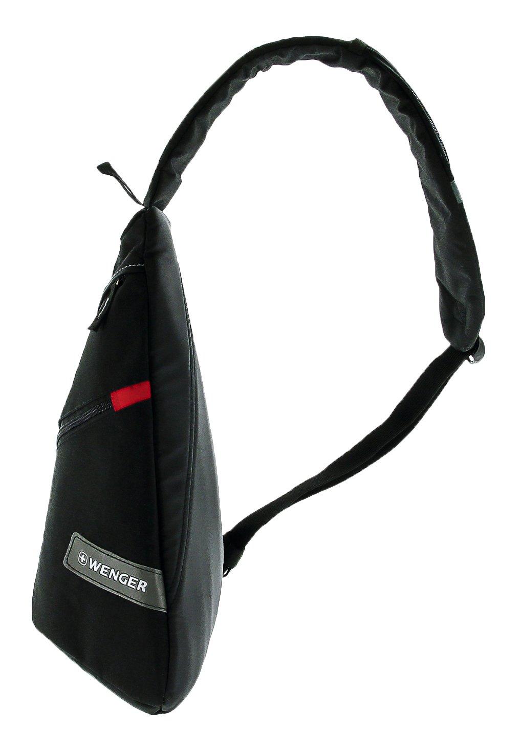 61DGgYC10cL - WENGER® Premium Slingbag para hombres y mujeres, 10 litros, Sling Backpack Hombro en negro con forro interior gris