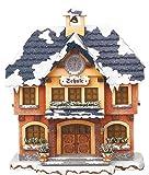 Kleine Figuren & Miniaturen Winterhaus Schule beleuchtet - 15cm - Hubrig Volkskunst